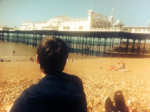 Brighton Pier, what a beautiful view, naturally including my babies.