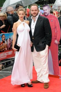 Jonathon with Emily Agnes on the red carpet